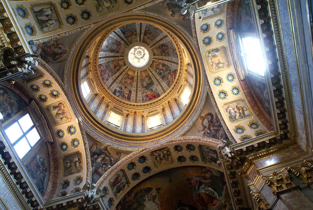 Dôme de la Chapelle San Domenico. Basilique San Domenico, Bologne, Émilie-Romagne, Italie.