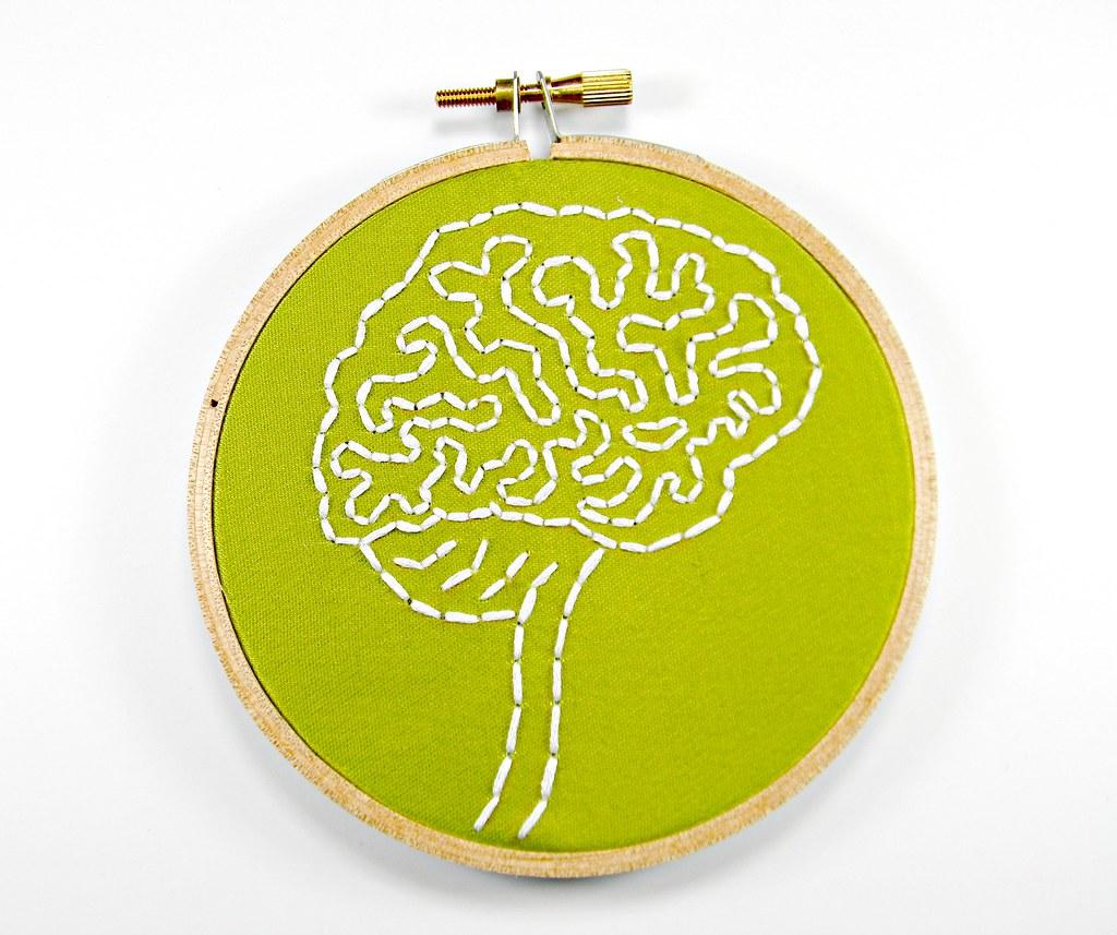 Brain Anatomy Hoop Art. Hand Embroidered Wall Decor   Flickr