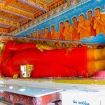 Sleeping Buddha at sacred Isurumuni Raja  Maha Viharaya in Anuradhapura