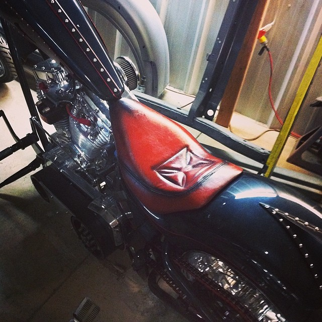 Custom #chopperseat   Customer wanted us to make a low pro