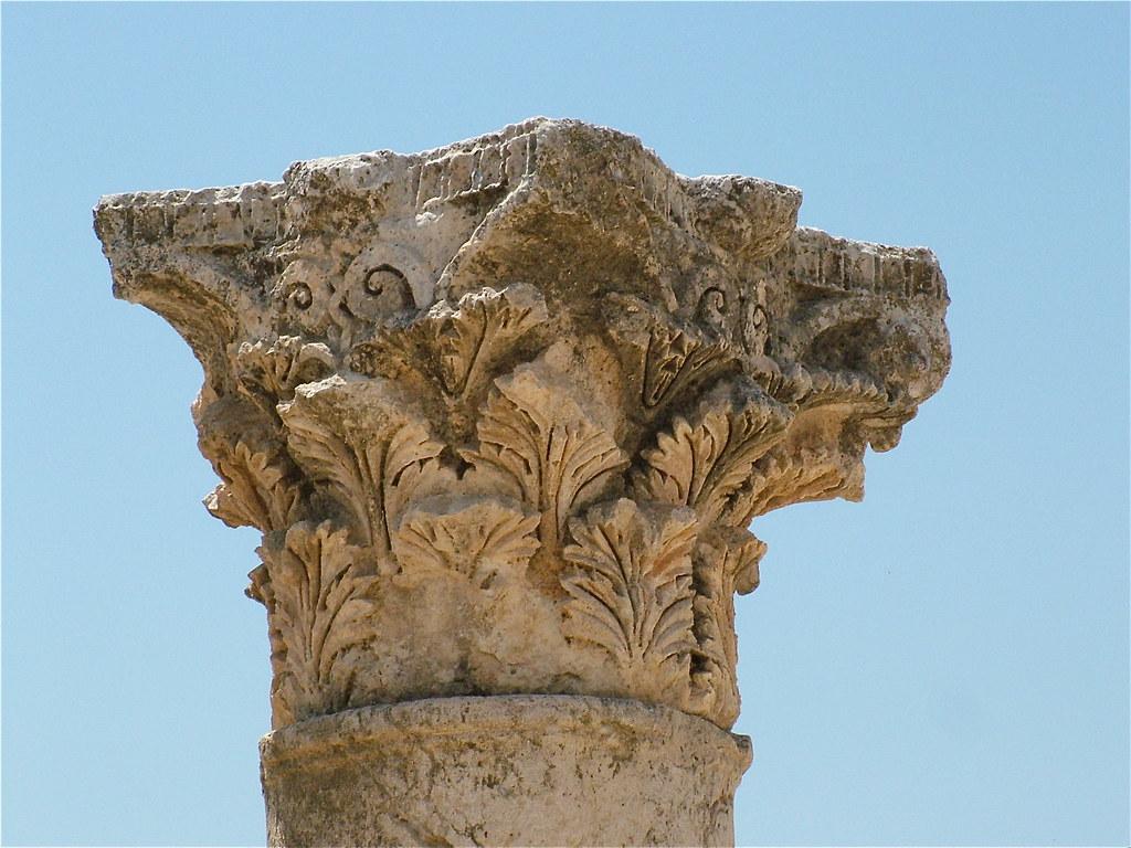 Jerash  Capitello Corinzio Nel Tempio Di Artemide