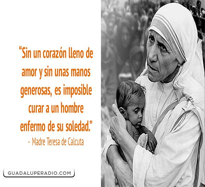 Frases De Teresa De Calcuta Sobre La Vida Quotes Of The Day
