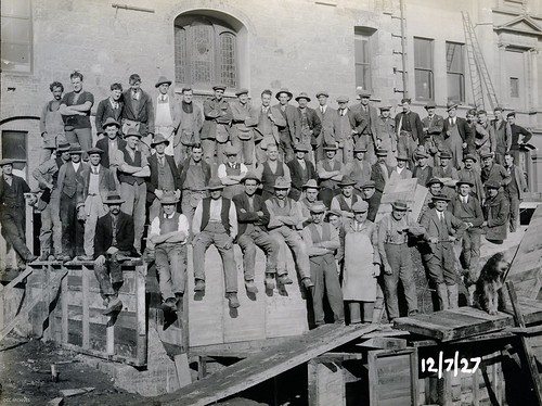Town Hall Construction Workers | by Dunedin City Council Archives
