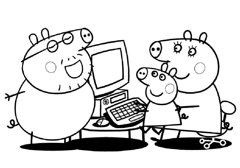 ... Do Peppa Para Colorir 7 7 Tv Desenhos Do Peppa