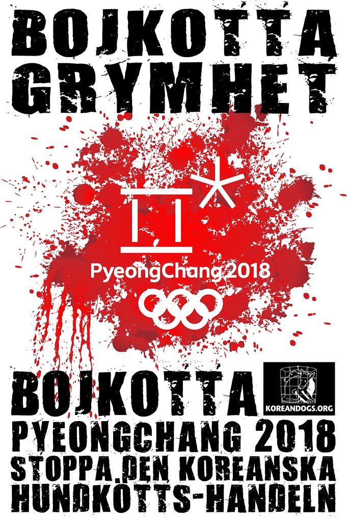 Swedish - BOYCOTT CRUELTY   BOYCOTT KOREA