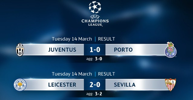 Champions League - Octavos de Final (Vuelta): Resultados