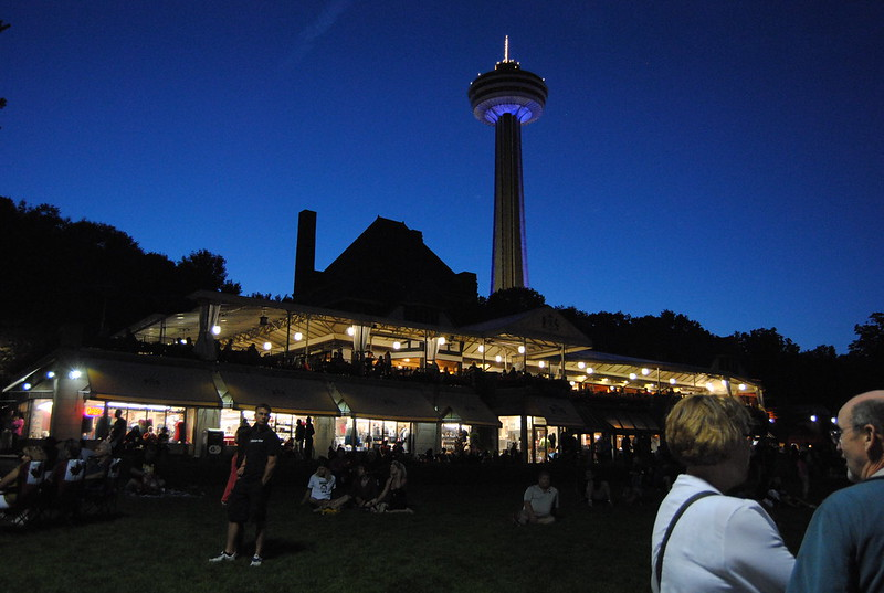 Queen Victoria Place and Skylon Tower, Niagara Falls, Ontario