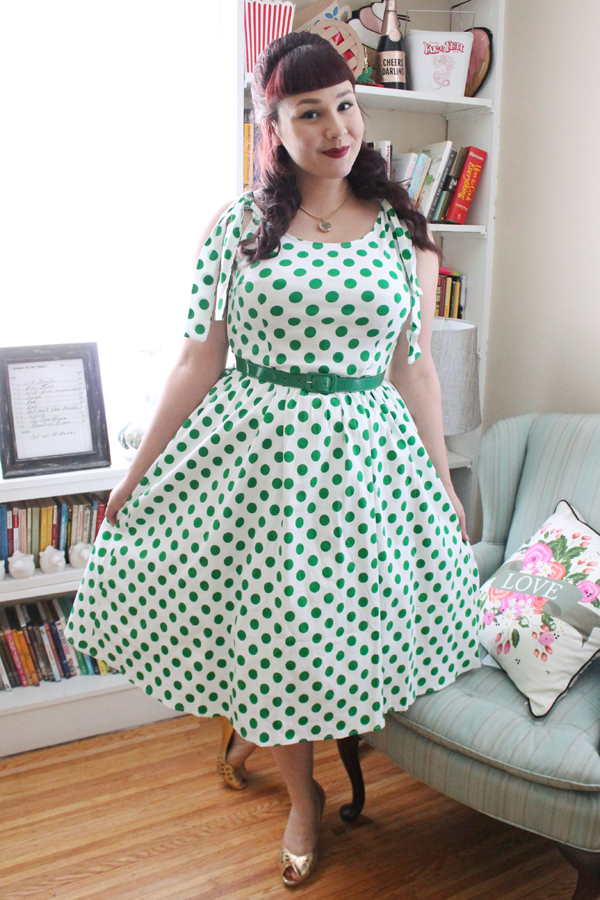 polka dot dress vintage