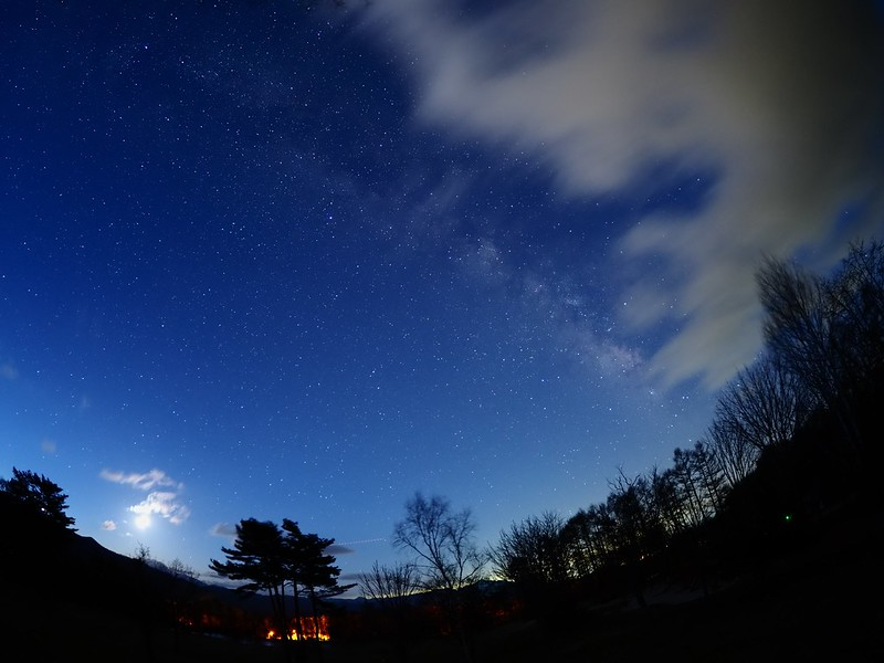 Moon phase26 with Milky Way / 月と天の川