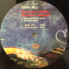 KRS ONE:STEP INTO A WORLD(RAPTURE'S DELIGHT)(LABEL SIDE-A)