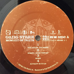 GANGSTARR:A MOMENT OF TRUTH(LABEL SIDE-A)