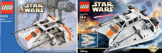 LEGO 10129 vs LEGO 75144 Star Wars UCS Snowspeeder