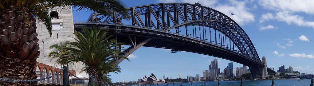 Sydney and the Opera House from the other side of the Harbour Bridge