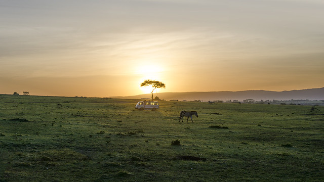 Sunrise over the Mara...