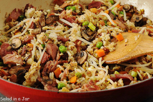 Post-Easter Ham and Veggie Fried Rice