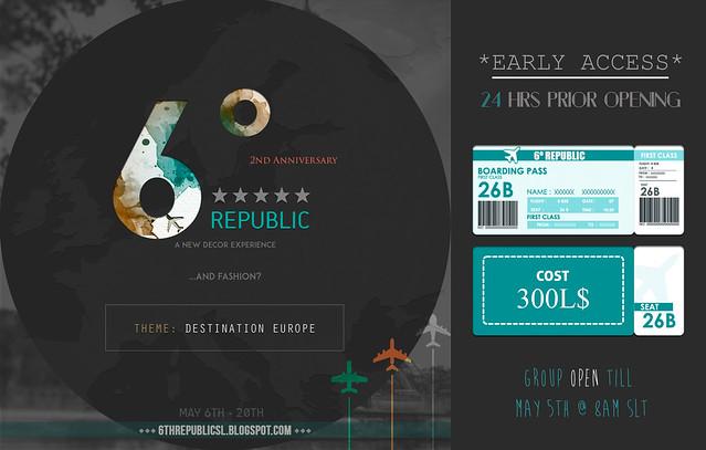 6º Republic - May 2017 Edition + VIP Pass
