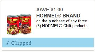 Hormel Chili Coupon