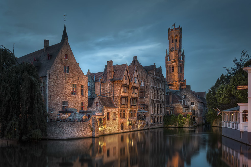 belgium little venice corner in bruge by jacob surland