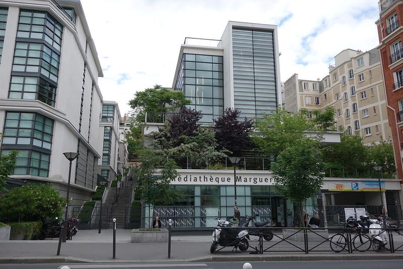 Rue de Bagnolet, médiathèque Marguerite Duras
