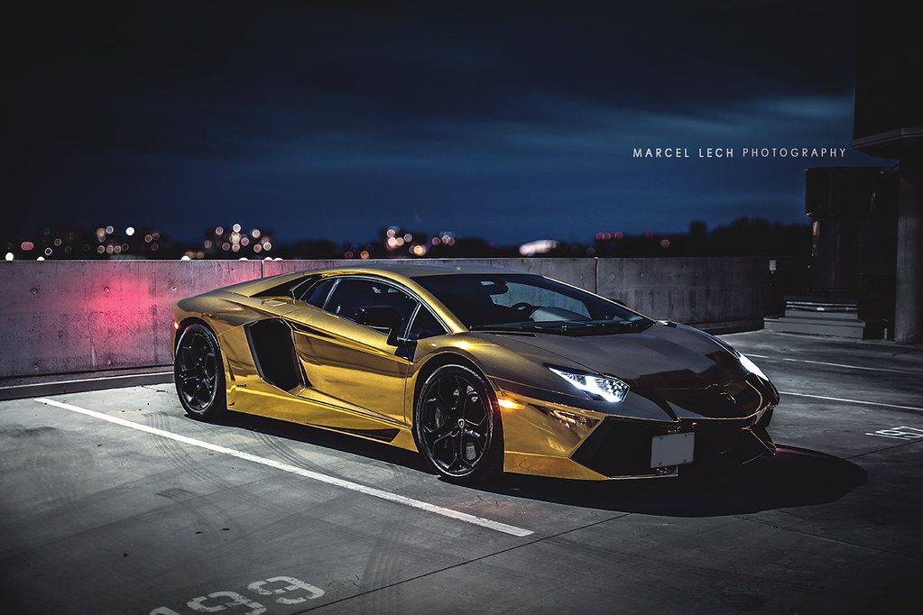 GOLD CHROME AVENTADOR | Like my Facebook page! | Flickr
