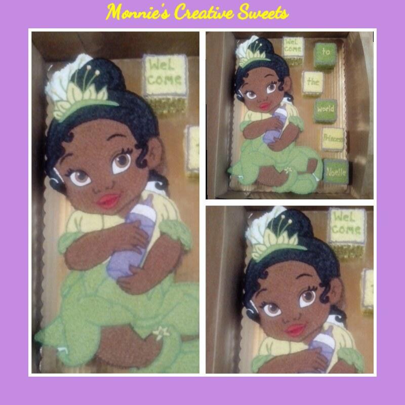 Princess Tiana Baby Shower Cake Princess Tiana As A Baby Monica