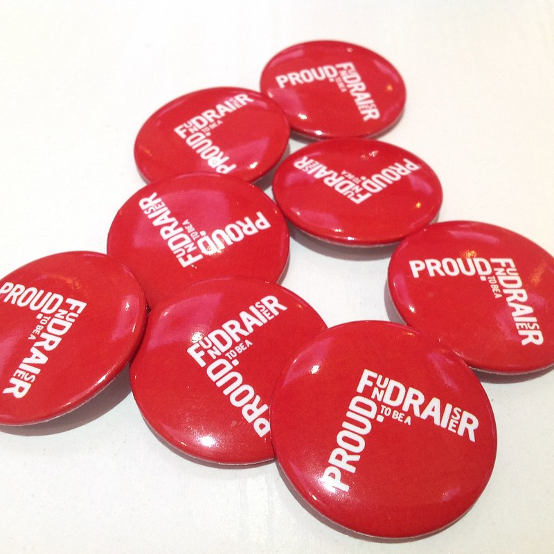 Proud Fundraiser badges at IoF Convention 2014