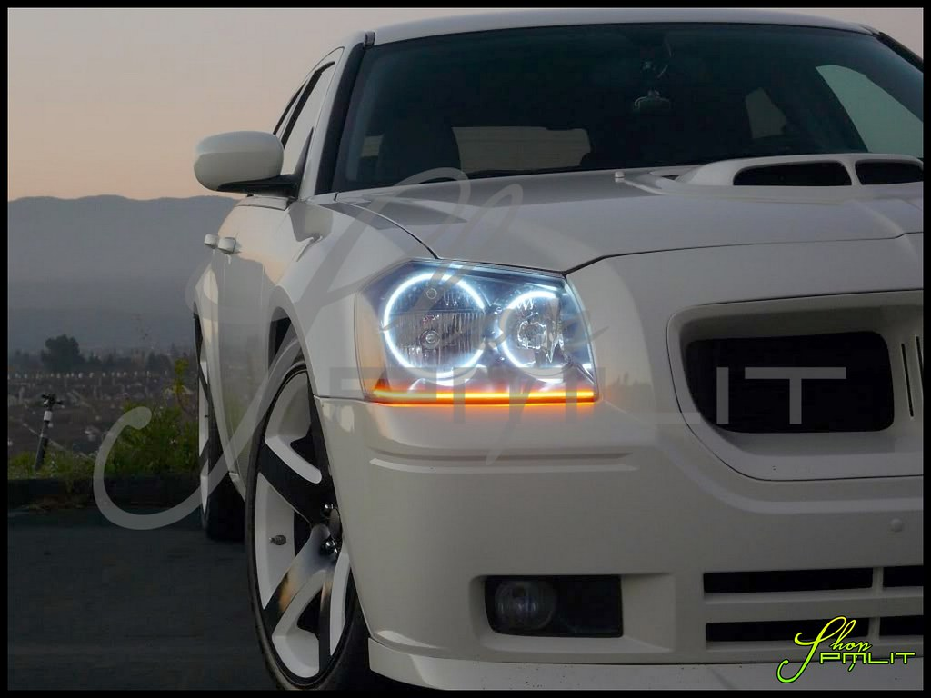 Shoppmlit Dodge Magnum Halo Led Lights Automotive Headligh