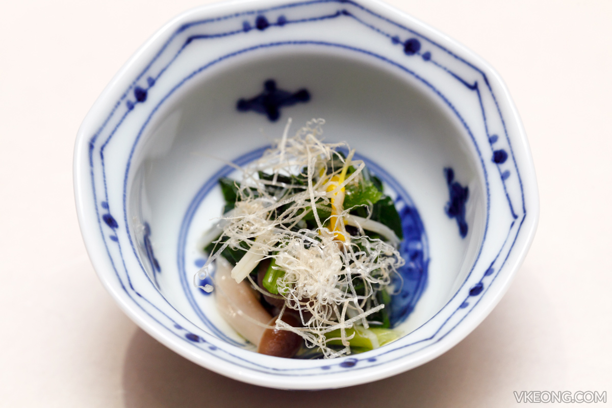 Sushi Azabu Course Appetizer
