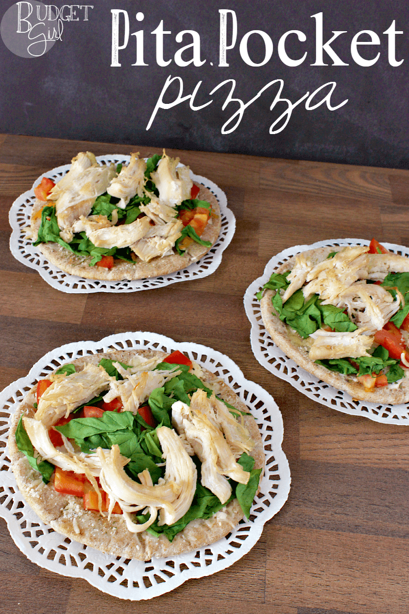 Greek-Style Pita Pocket Pizza