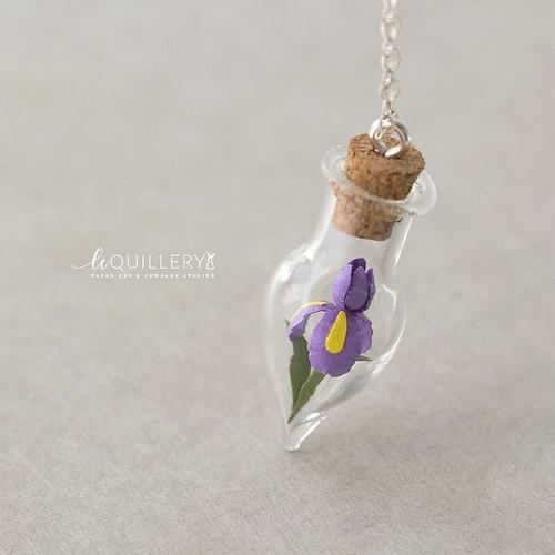 Le Quillery Paper Iris Vial Pendant