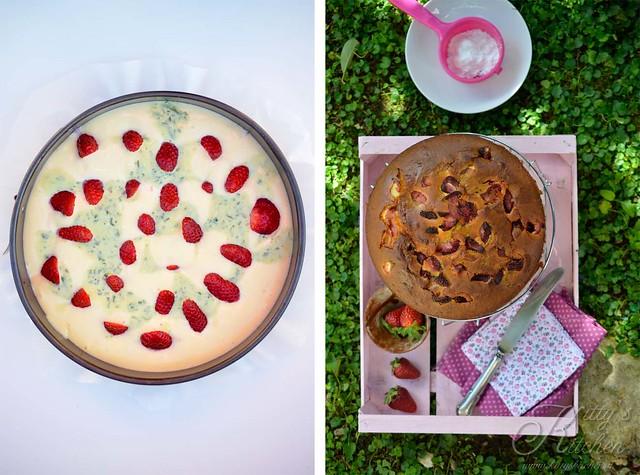 torta allo yogut, fragole e basilico1