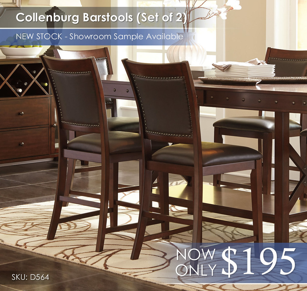 Collenburg Barstools Set of 2 D564