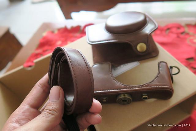 Leather Case Canon G7X - Strap