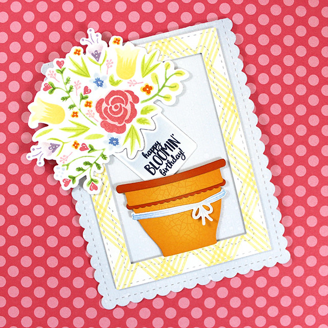 Bloomin' Birthday Card Flat