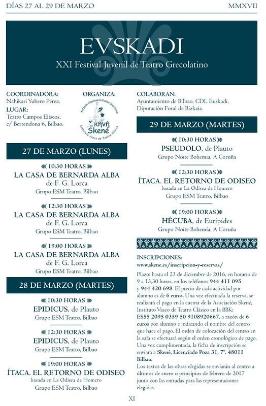 XXI Festival Juvenil de Teatro Grecolatino