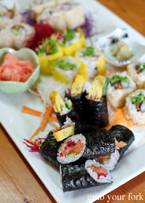 Sushi platter for four at Masaaki's Sushi in Geeveston, Tasmania