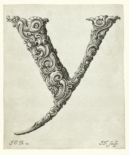 024- Letra Y-Libellus Novus Elementorum Latinorum -J. C. Bierpfaff-  Rijksmuseum