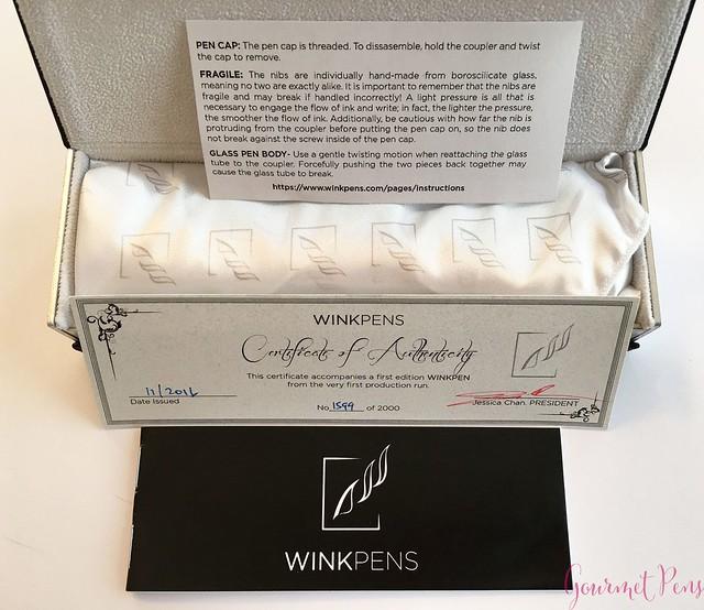 Review @WinkPens Glass Nib Pen from @Massdrop 2