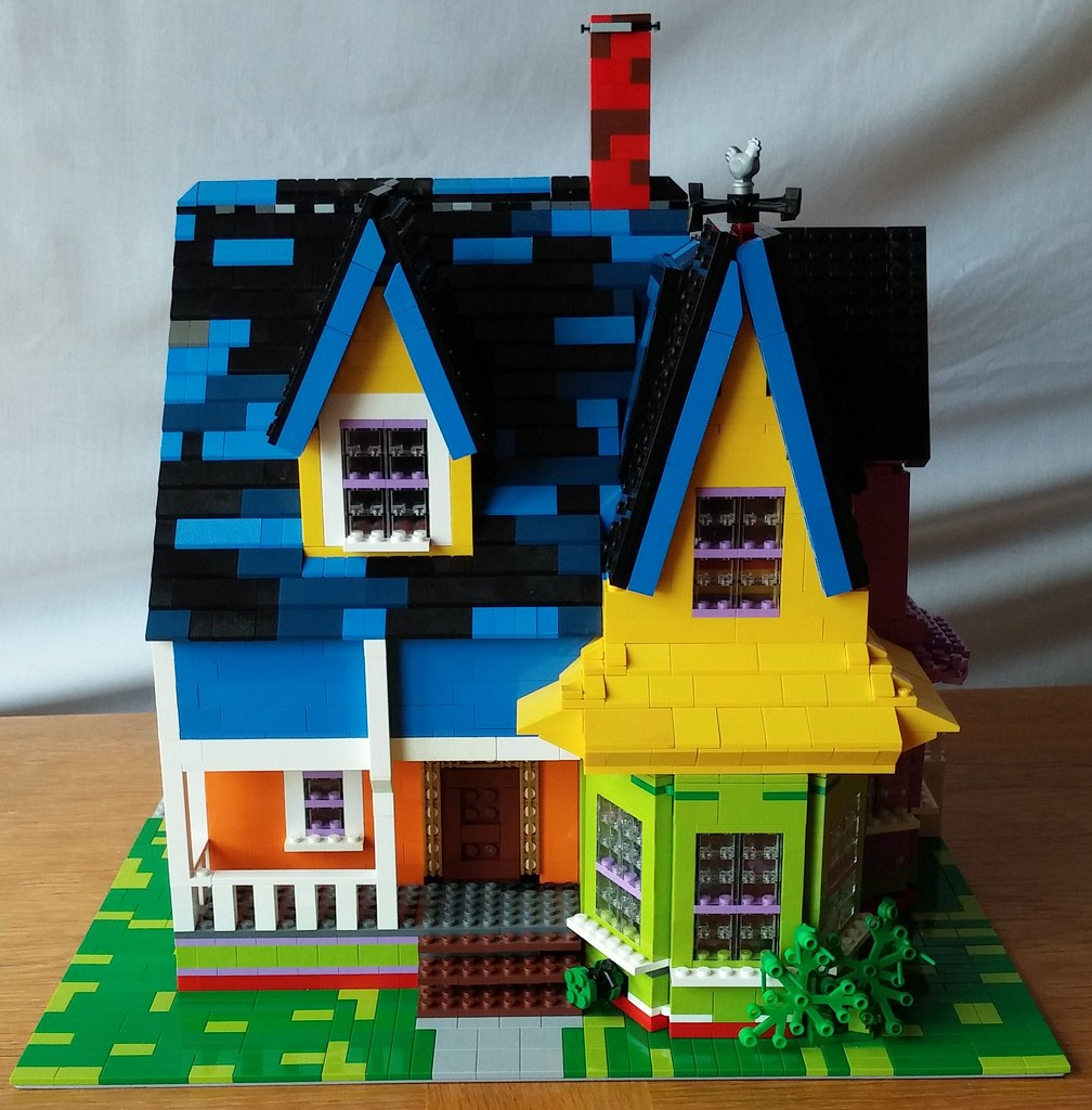 Lego Up House My Lego Rendition Of Carl Fredricksen S
