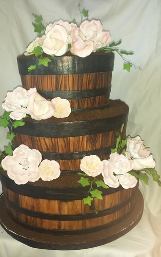 cute wedding cake ideas barrel wedding cake mick robson flickr 13274