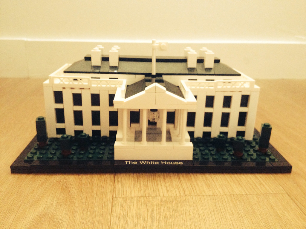 Lego Architecture 21006 The White House Ralise Par M Flickr By Ma Fille Sulie