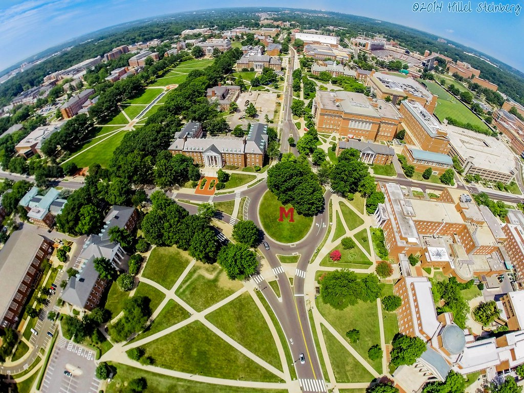 Drone The M And Stamp Bird S Eye View Of The University
