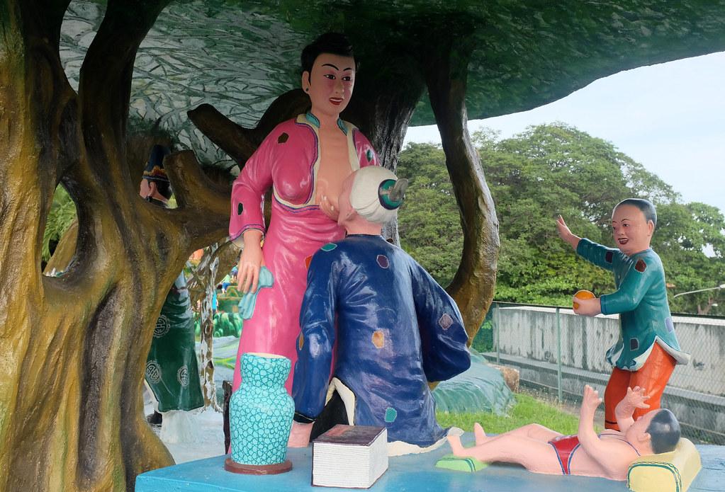 haw par villa, theme park, weird, bizarre, singapore