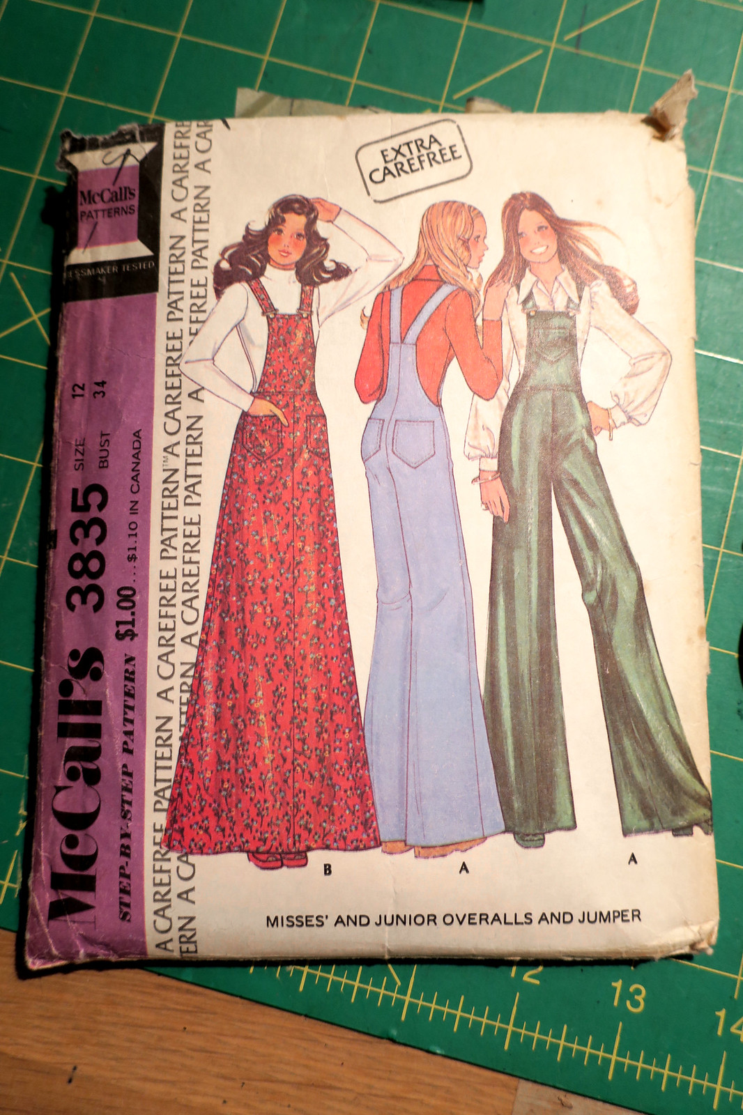 McCall's 3835 Vintage Overalls and Overall dress pattern