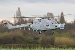 ZF557 - 1987 build Westland Lynx HMA.8SRU, inbound to Barton for a re-fuel