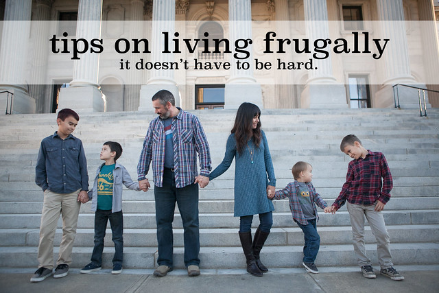 15 Tips from a mom of 4 on how to live Frugally & how it doesn't have to be hard.