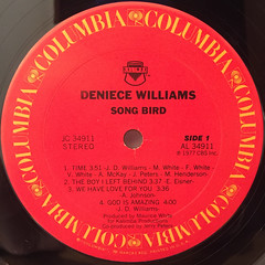 DENIECE WILLIAMS:SONG BIRD(LABEL SIDE-A)