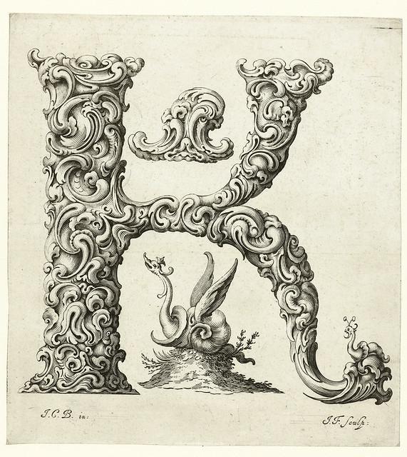 011-Letra K-Libellus Novus Elementorum Latinorum -J. C. Bierpfaff-  Rijksmuseum