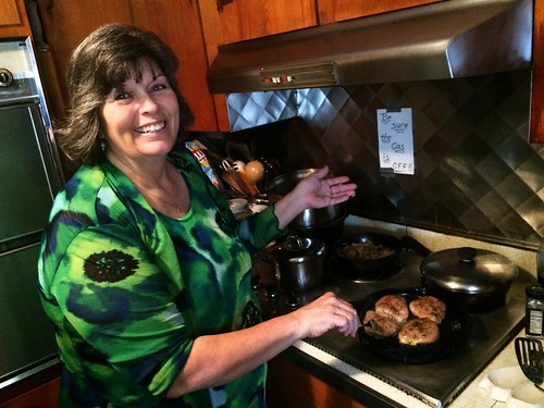 Mom Cooking Chicken - Easter Sunday (March 27 2016)