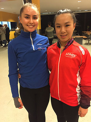 Juni Marie sammen med Jemima fra AKK under Nordics 2017